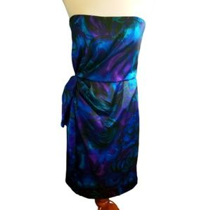 || MAGGY LONDON || Multicolor Strapless Dress